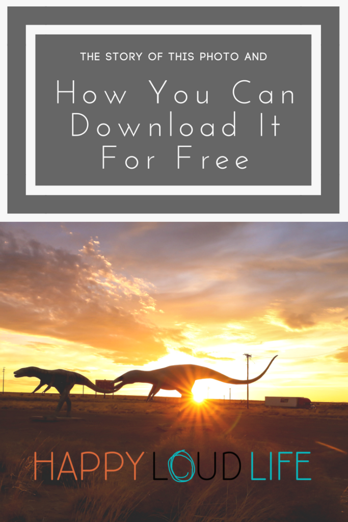 dinosaurs at sunset free photo download
