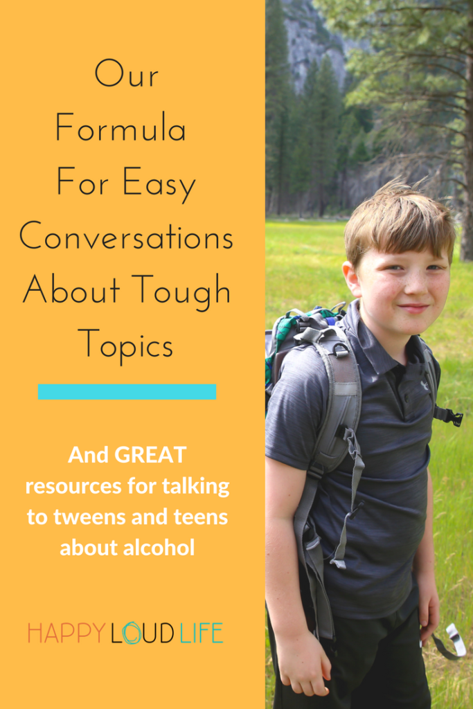 resources and tips to talking to teens and tweens about alcohol